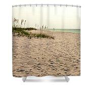 Pensacola Beach 2 Panorama - Pensacola Florida Shower Curtain