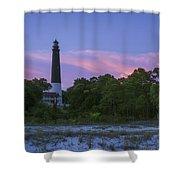 Pensacola Lighthouse Dusk Shower Curtain