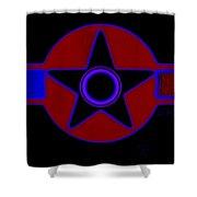 Pentagram In Red Shower Curtain