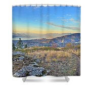 Penticton In The Distance Shower Curtain