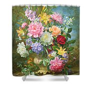 Peonies And Mixed Flowers Shower Curtain