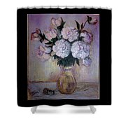 Peonies And Rings Shower Curtain