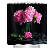 Peonies - Beauty The Brave Shower Curtain