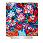 Peonies Bouquet Shower Curtain