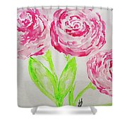 Peonies In Bloom Shower Curtain