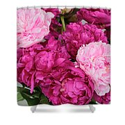 Peony Bouquet Shower Curtain