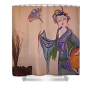 Peony The Geisha Shower Curtain