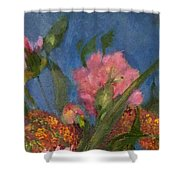 Peony Trio Shower Curtain