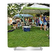 People At Food Event 3 Shower Curtain
