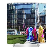 People - East Indian Women In Traditional Dress Shower Curtain
