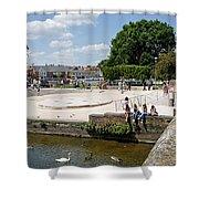 People Enjoying The Stratford Sunshine Shower Curtain