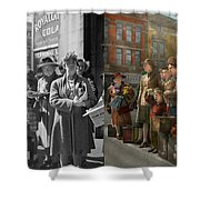 People - People Waiting For The Bus - 1943 - Side By Side Shower Curtain