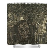 Three Persons Shower Curtain