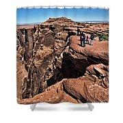 People View Horseshoe Bend Rock Edge  Shower Curtain