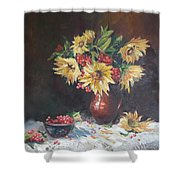 Still-life With Sunflowers Shower Curtain