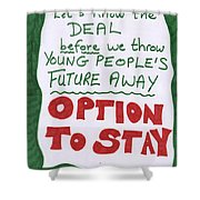 People's Vote Option To Stay Young People Need A Future Shower Curtain