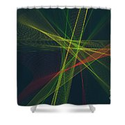 Pepper Computer Graphic Line Pattern Shower Curtain