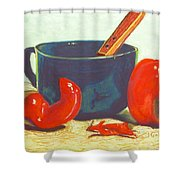 Pepper Harvest Shower Curtain