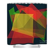 Pepper Polygon Pattern Shower Curtain