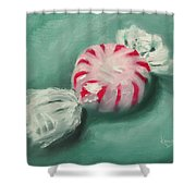 Peppermint Candy Shower Curtain