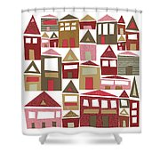 Peppermint Village Shower Curtain
