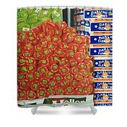 Peppers And Clementines Shower Curtain