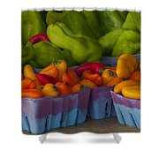 Peppers At The Produce Market Shower Curtain
