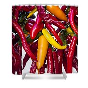 Peppers - Farmers Market - Madison - Wisconsin Shower Curtain