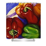 Peppers In The Round Shower Curtain