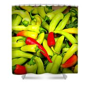Peppers Shower Curtain