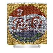 Pepsi Bottle Cap Mosaic Shower Curtain