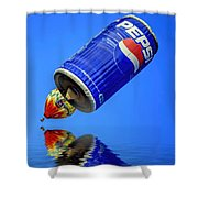 Pepsi Can Hot Air Balloon At Solberg Airport Reddinton  New Jersey Shower Curtain