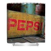 Pepsi Crate Shower Curtain