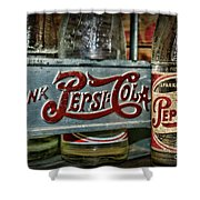 Pepsi Double Dot Metal Carrier  Shower Curtain