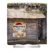 Pepsi Sign Shower Curtain