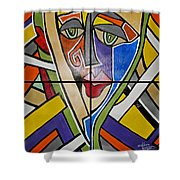 Perception Collection Shower Curtain