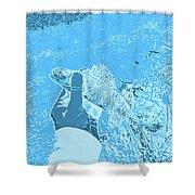 Perch Blue Shower Curtain