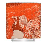 Perch Red Shower Curtain