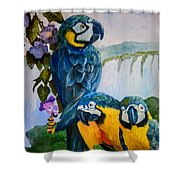 Perched In Paradise Shower Curtain