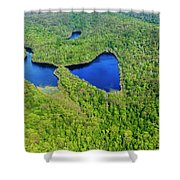 Perched Lake Shower Curtain