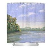 Percuil River, Cornwall Shower Curtain
