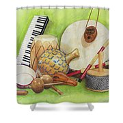 Percussion Shower Curtain
