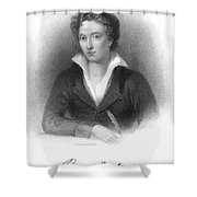 Percy Shelley (1792-1822) Shower Curtain