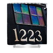 Pere Marquette Locomotive 1223 Shower Curtain