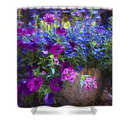 Perennial Flowers Y2 Shower Curtain