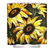 Perfect Beauty Sunflower Shower Curtain