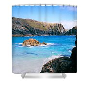 Perfect Blue Water Shower Curtain