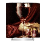 A Perfect Glass Of Wine Shower Curtain