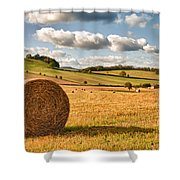 Perfect Harvest Landscape Shower Curtain by Amanda Elwell
