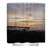 Perfect Pier View 4 4/10 Shower Curtain